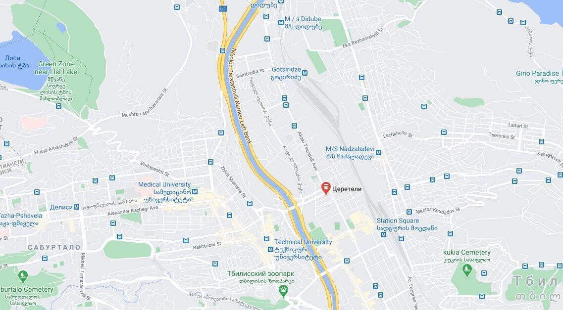 Инцидент произошел на проспекте Церетели в Тбилиси