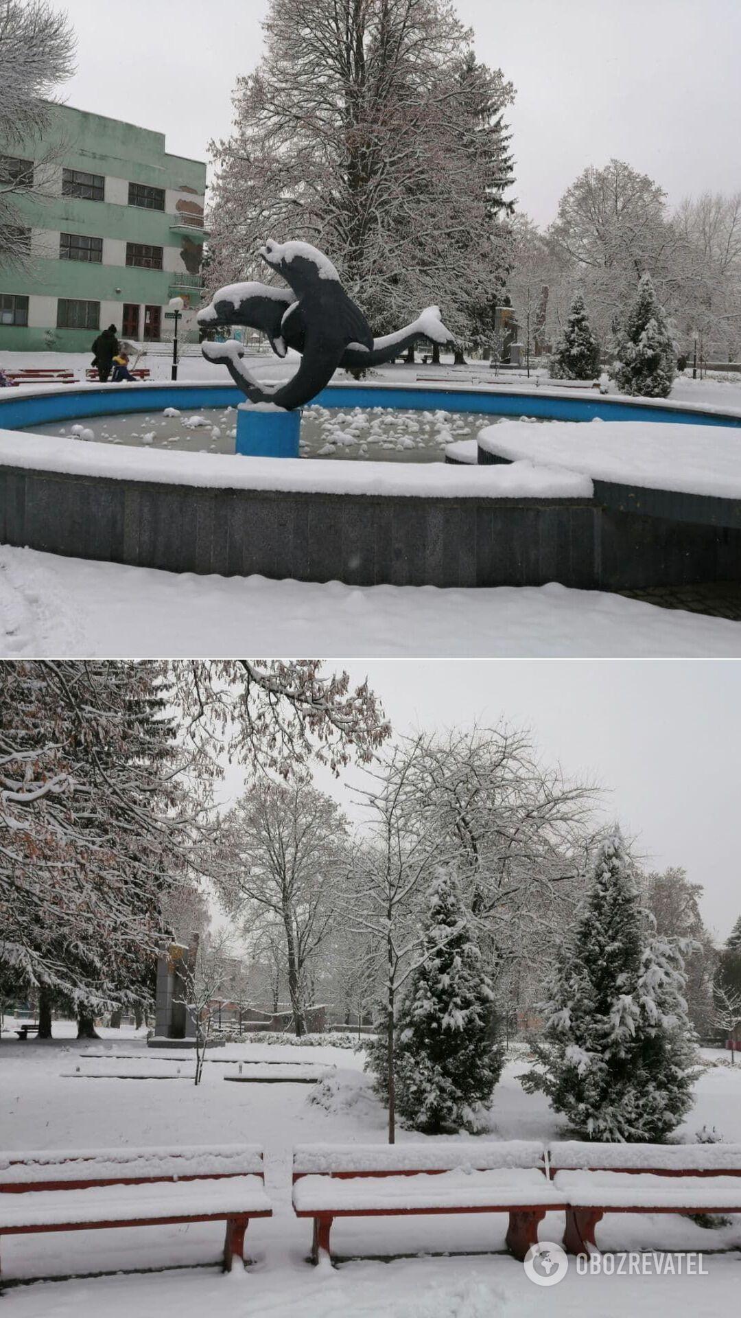 Снег в Шостке