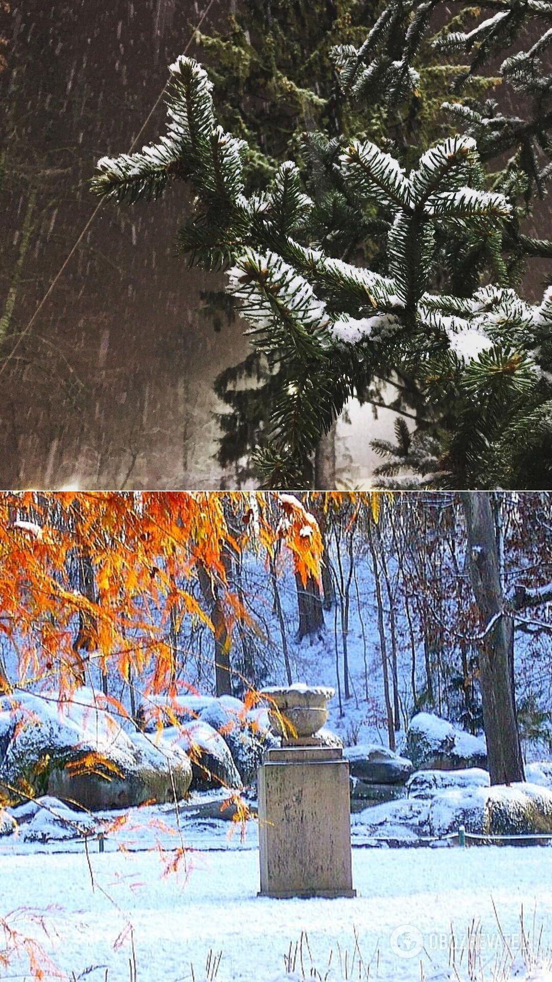 Снег в Чернигове и Умани