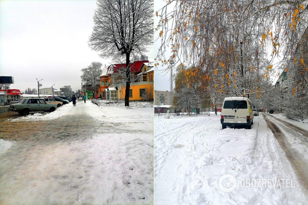 Заснеженные улицы города Шостка