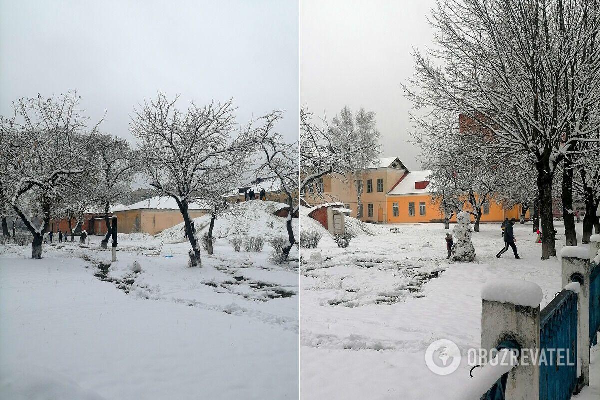 В Шостке выпало зимне количество снега