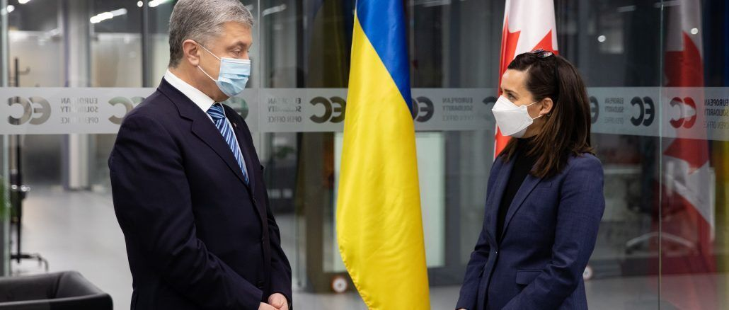 Порошенко зустрівся з послом Канади в Україні Ларисою Галадзою