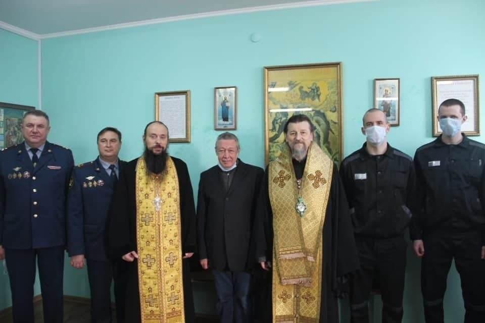 Єфремов побував на молебні в храмі святителя Миколая Чудотворця в СІЗО.