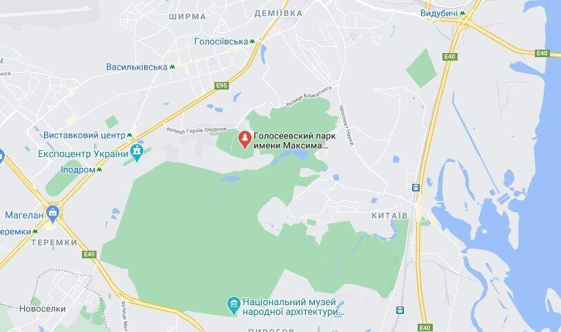 Тело женщины нашли в Голосеевском парке.