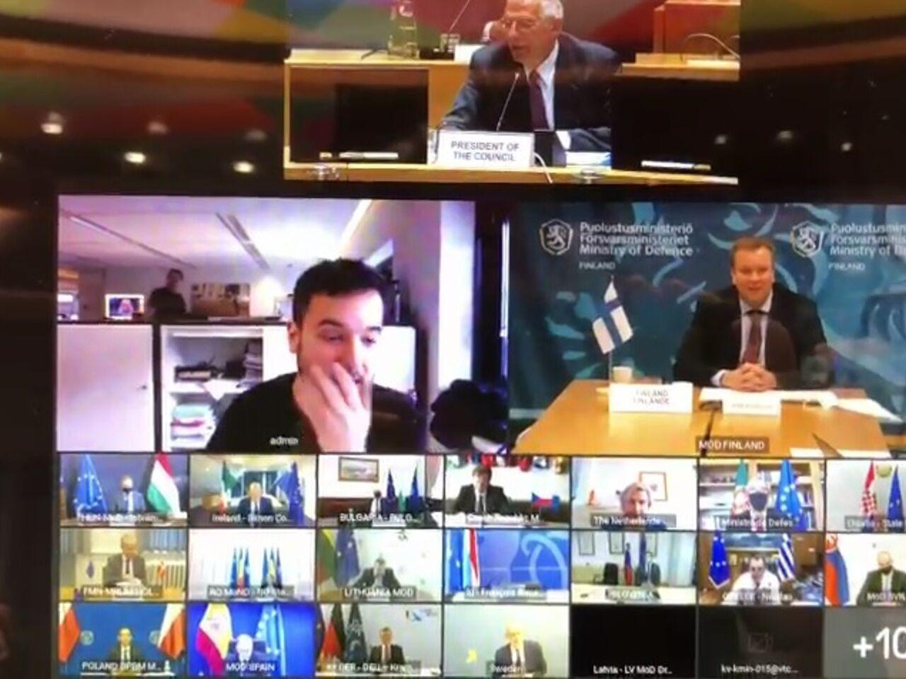 Голландский журналист случайно попал в секретную видеоконференцию министров обороны ЕС