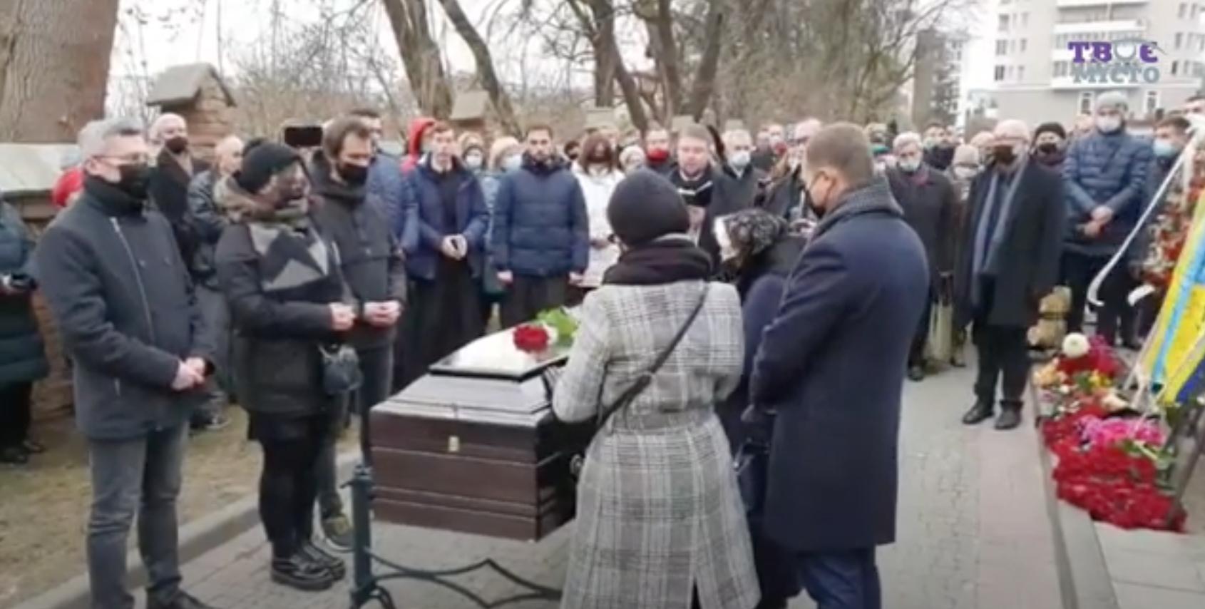 Похороны Виктюка на Лычаковском кладбище