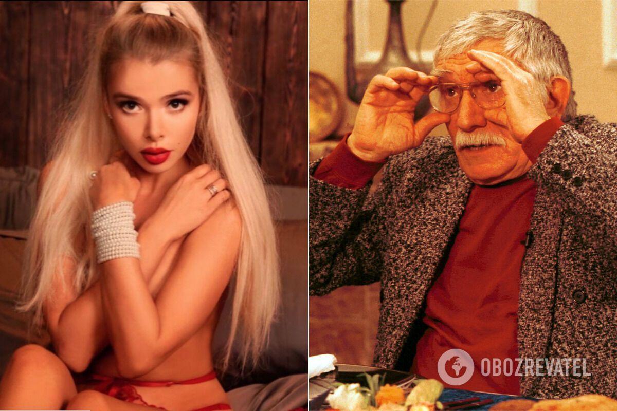 Альона Кравець та Армен Джигарханян.