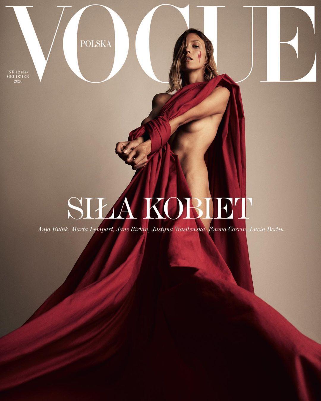 Аня Рубік знялася оголеною для обкладинки Vogue в протест заборони абортів у Польщі