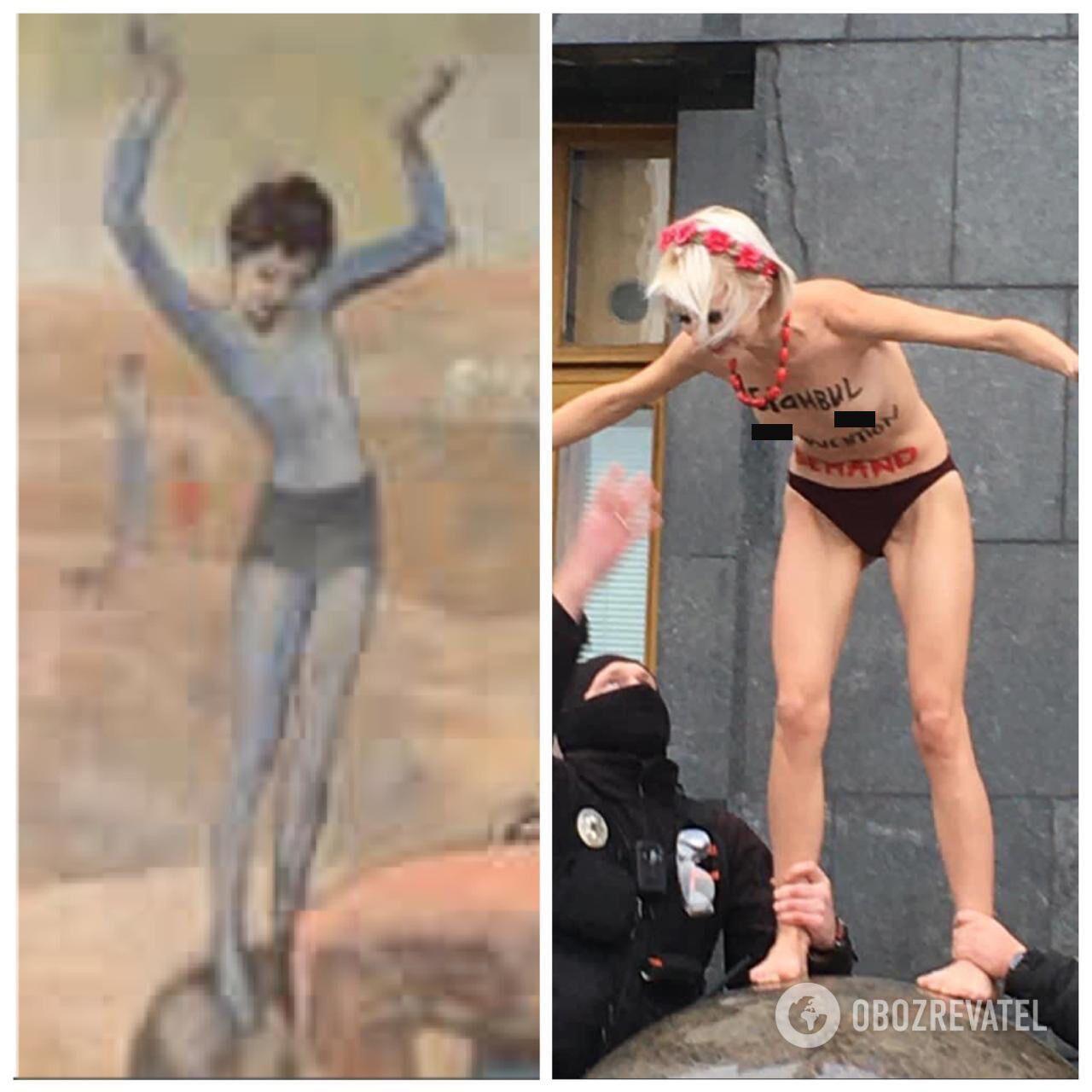 Активистку сравнили с картиной Пикассо