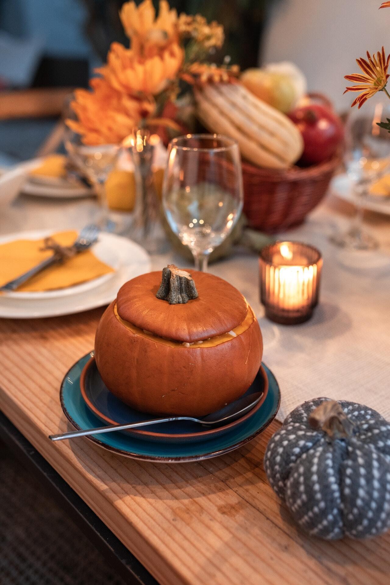 В День благодарения к столу принято подавать блюда из тыквы