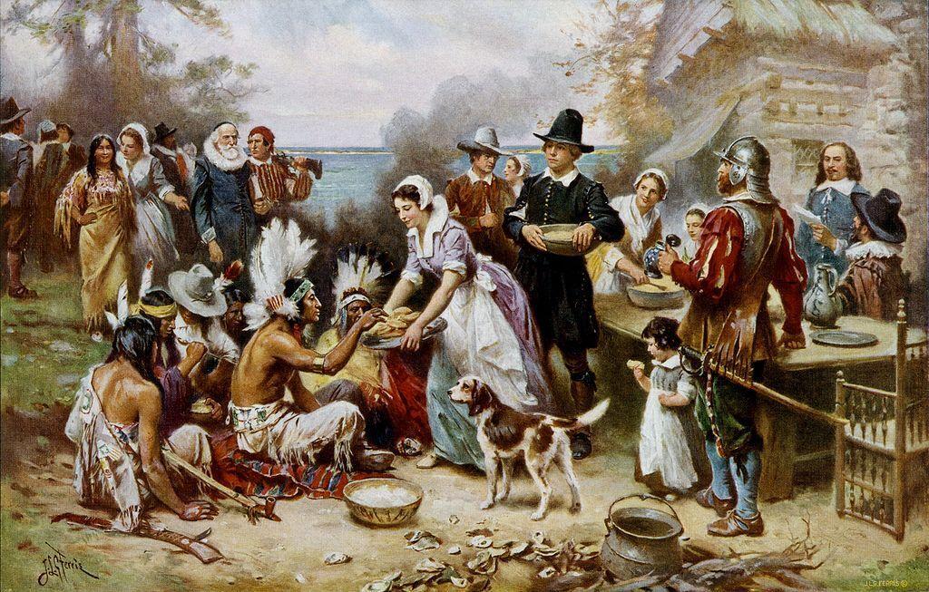 """""""Первый День благодарения. 1621 год"""", художник Жан Леон Жером Феррис"""