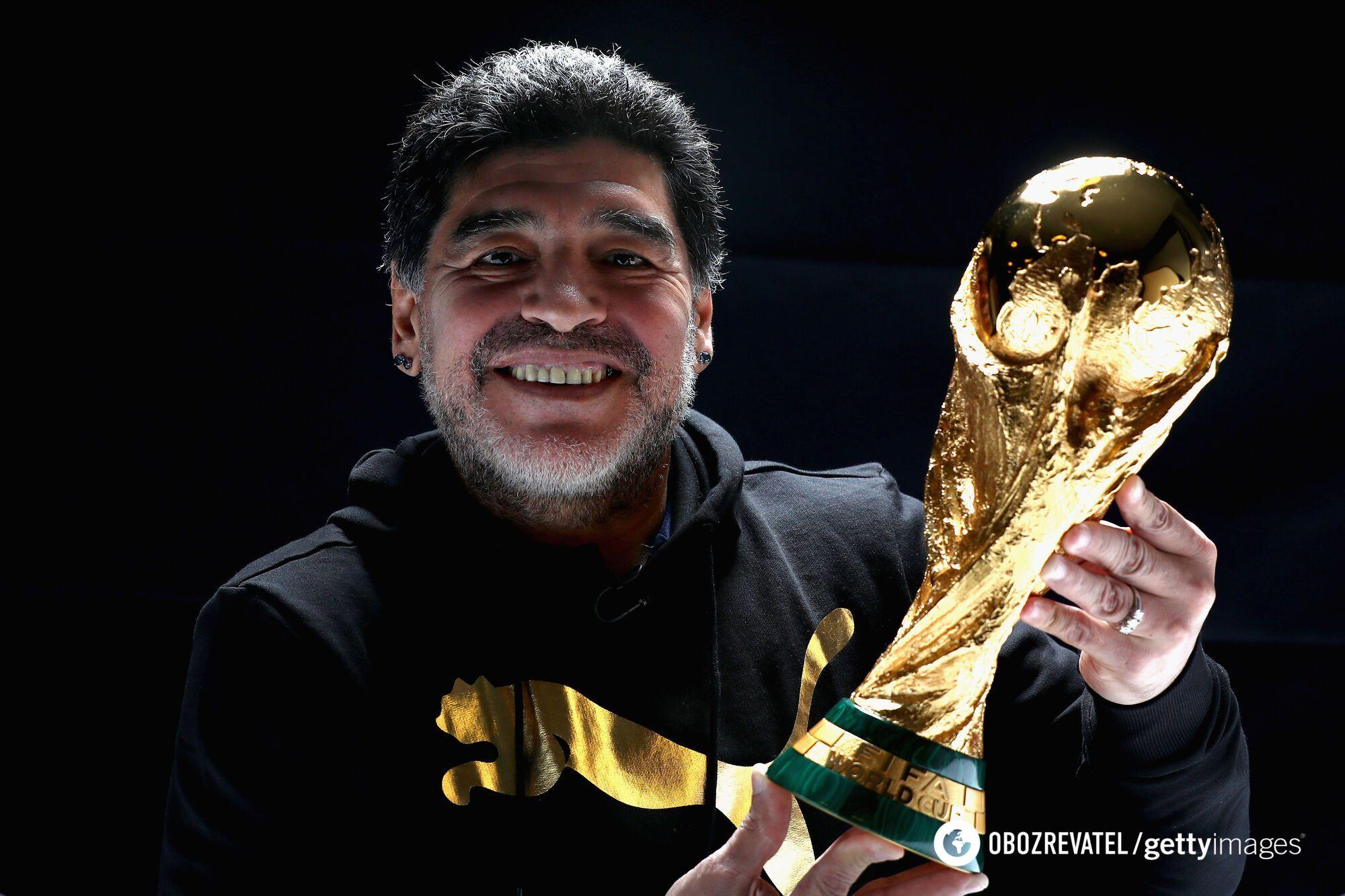 Марадона с Кубком мира (2017 год)