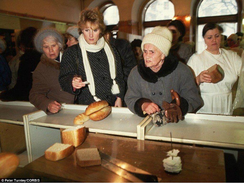 Конфликт в очереди за хлебом, ноябрь 1991 года, СССР