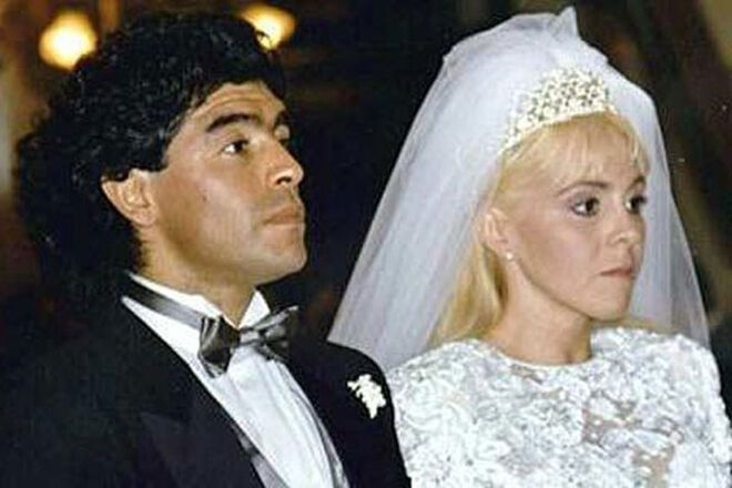 Весілля Дієго Марадони і Клаудії Вільяфаньє.