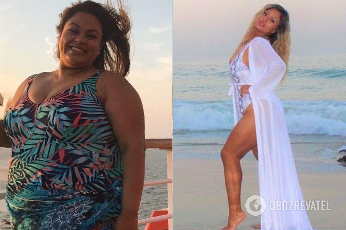 Наталі Варгас до і після схуднення