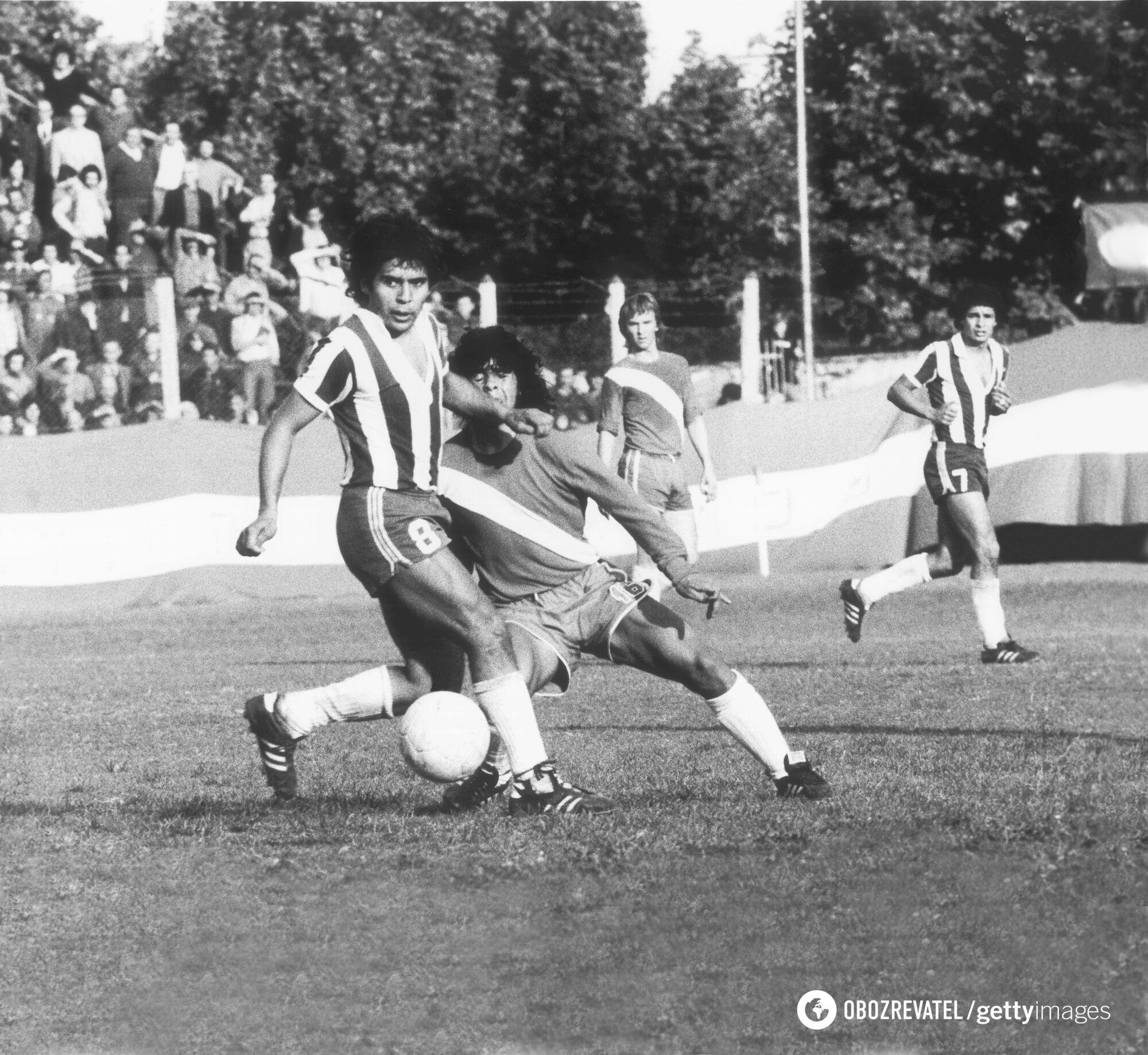 Марадона в 1976 году