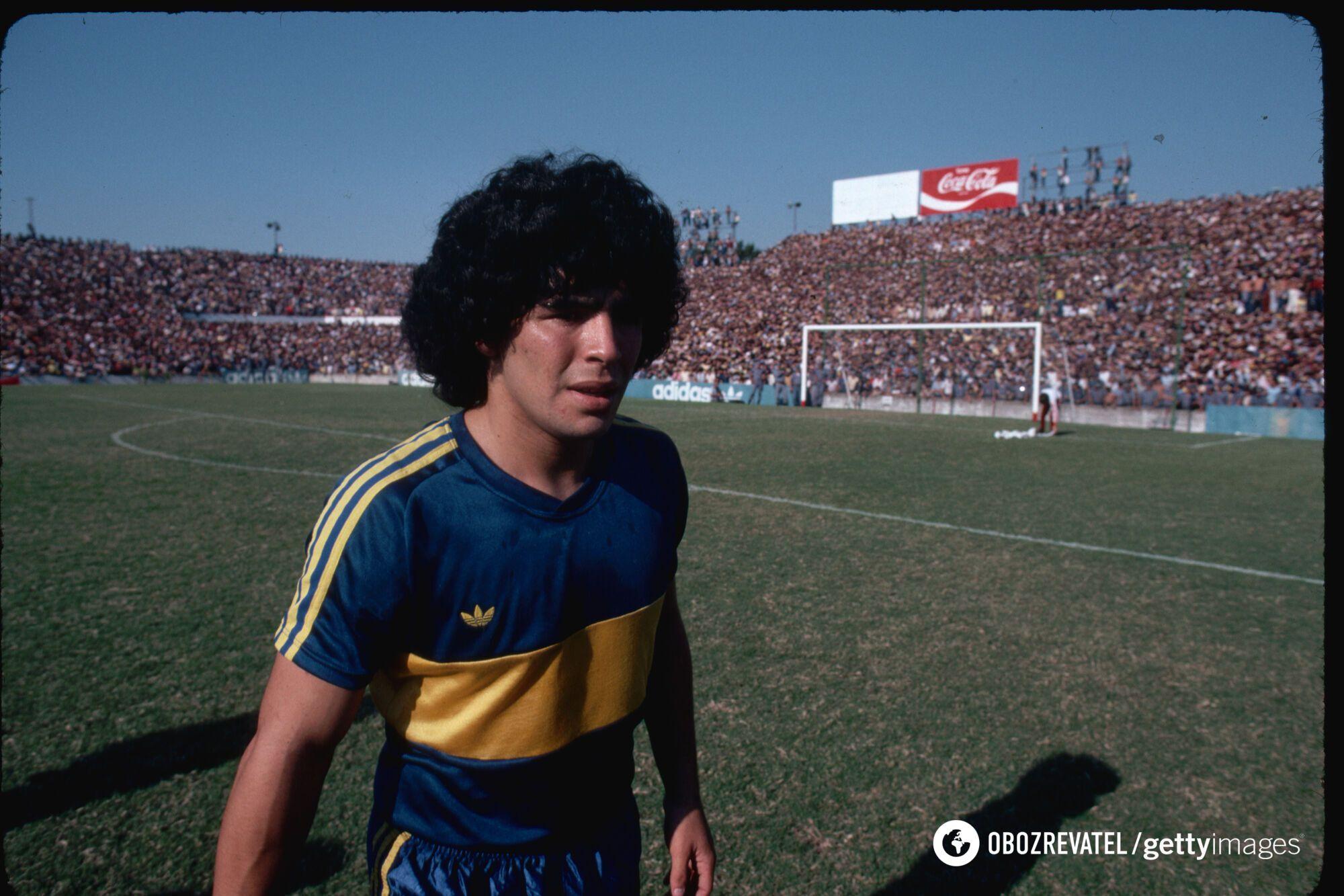 Марадона в 1981 году.
