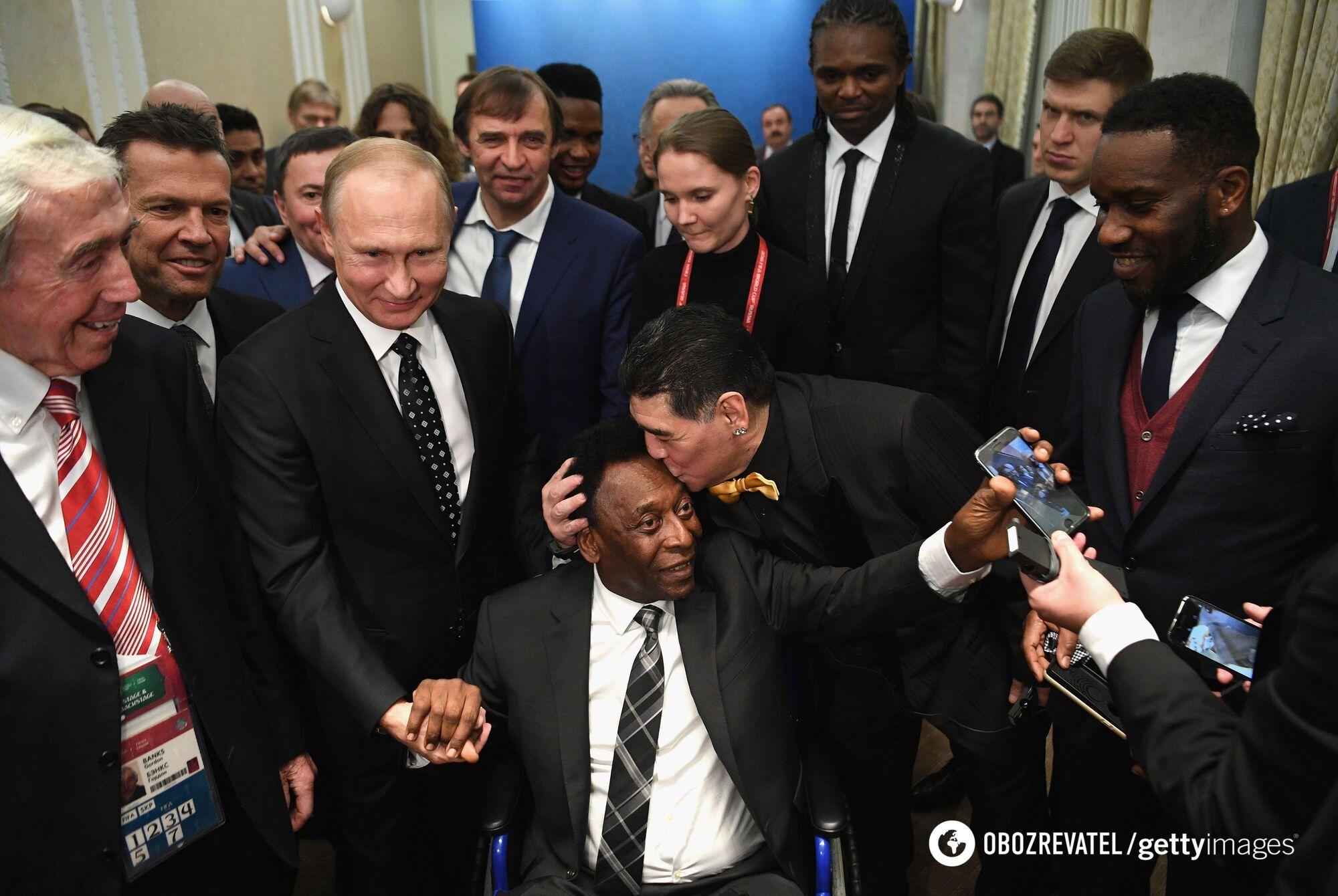 Пеле и Марадона на приеме у Путина.