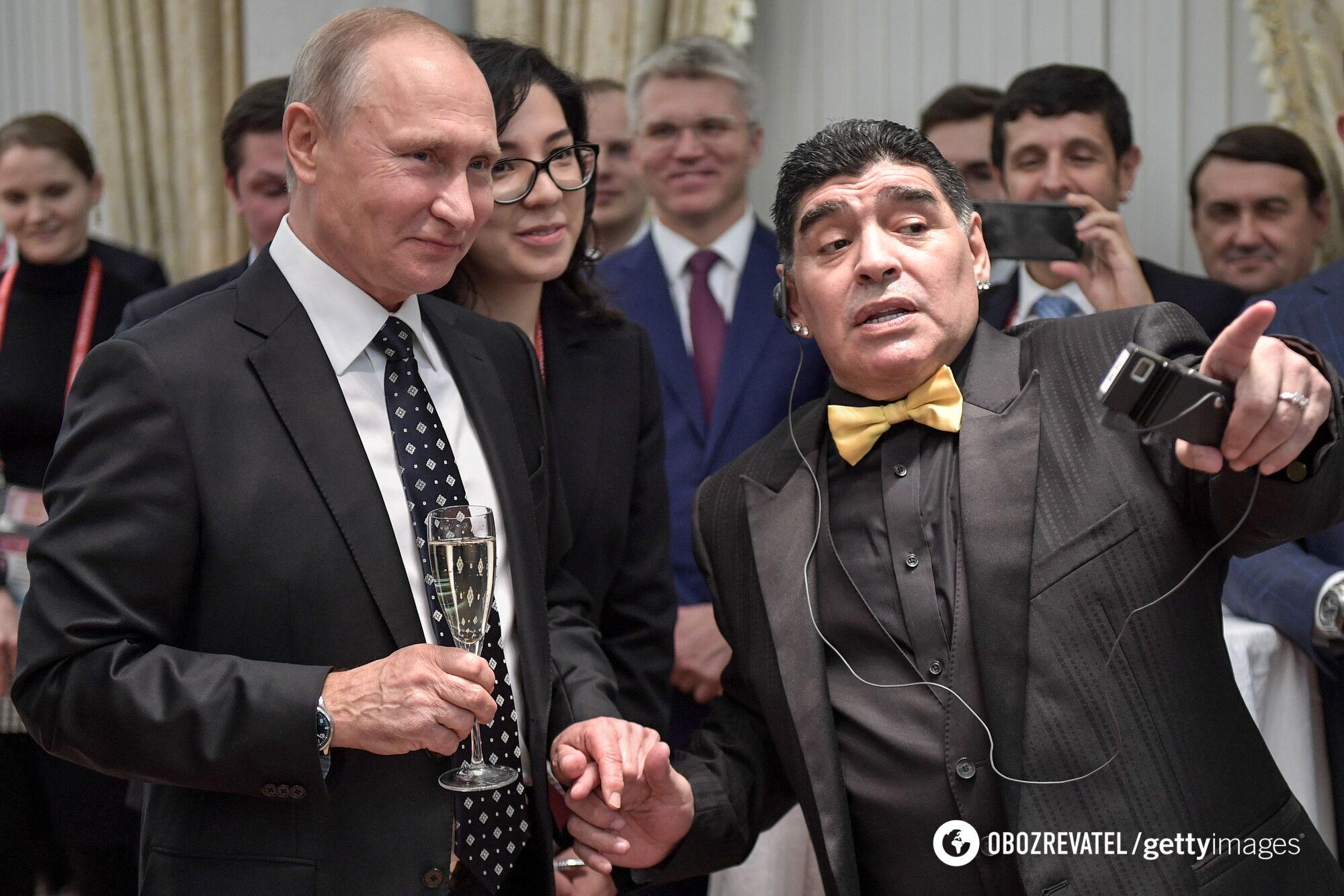 Диего Армандо встретился с Путиным перед ЧМ-2018.