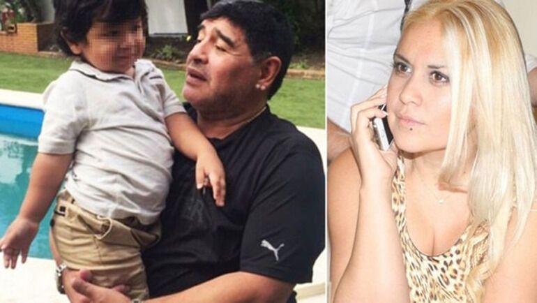 Марадона с сыном Диего Фернандо, которого родила Вероника Охеда.