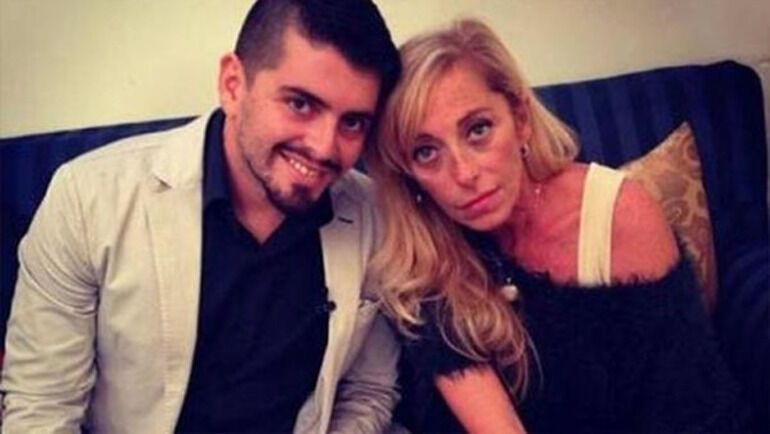 Крістіна Сінагра з позашлюбним сином Марадони – Дієго.