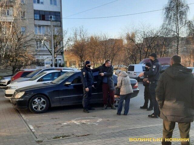 Конфлікт біля супермаркету в Луцьку