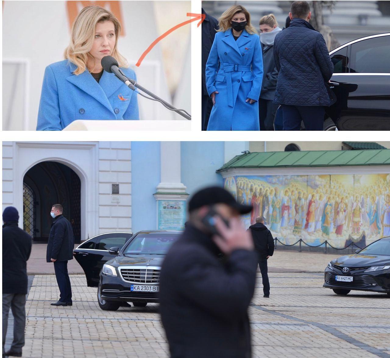 Елена Зеленская ездит на элитной иномарке