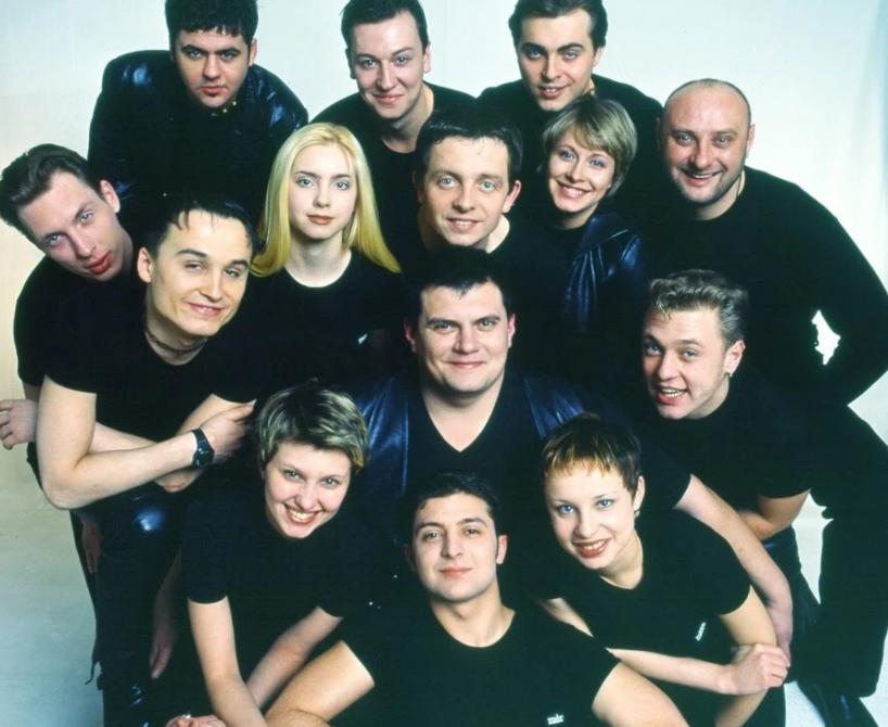 """Молоді актори студії """"Квартал 95""""."""
