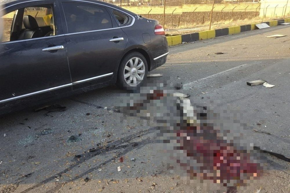Место нападения на Мохсена Фахризаде.