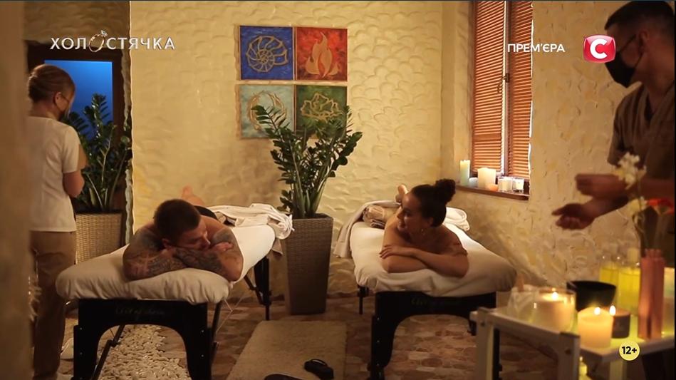 Андрей Рыбак и Ксения Мишина провели романтический вечер в SPA