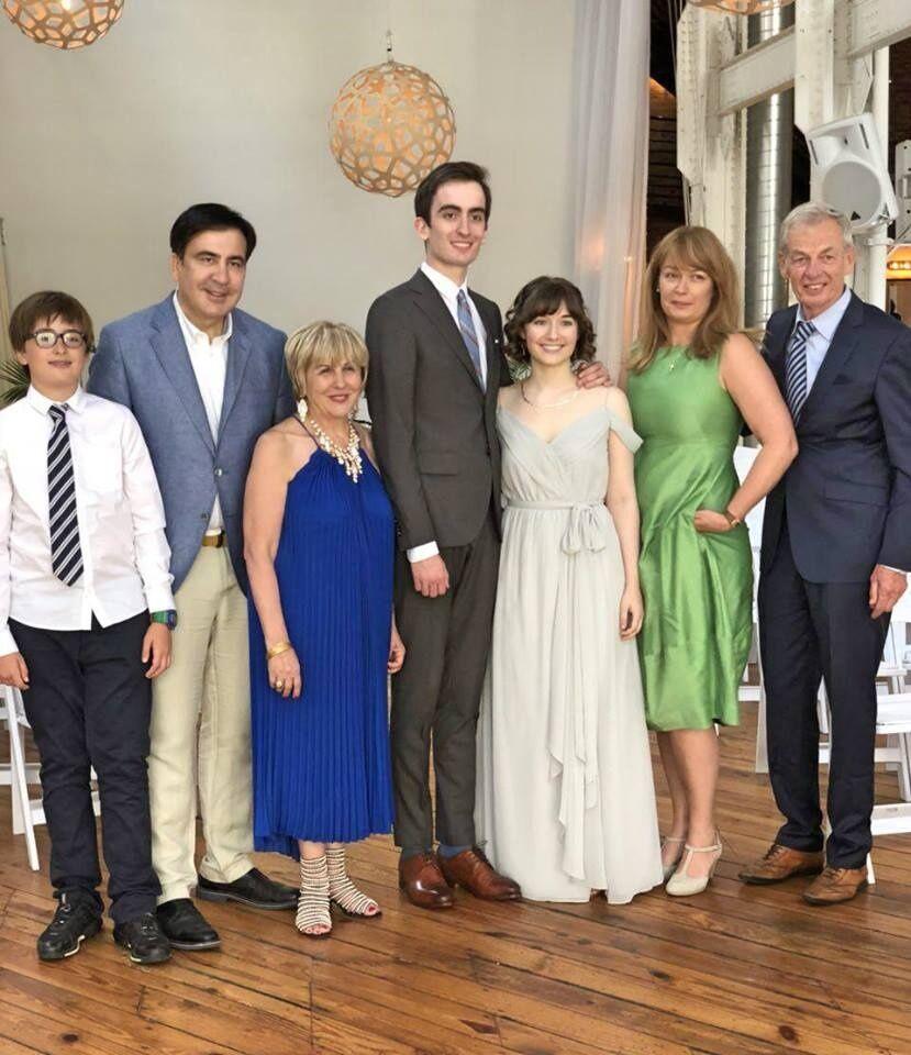 Сын Саакашвили женился в США