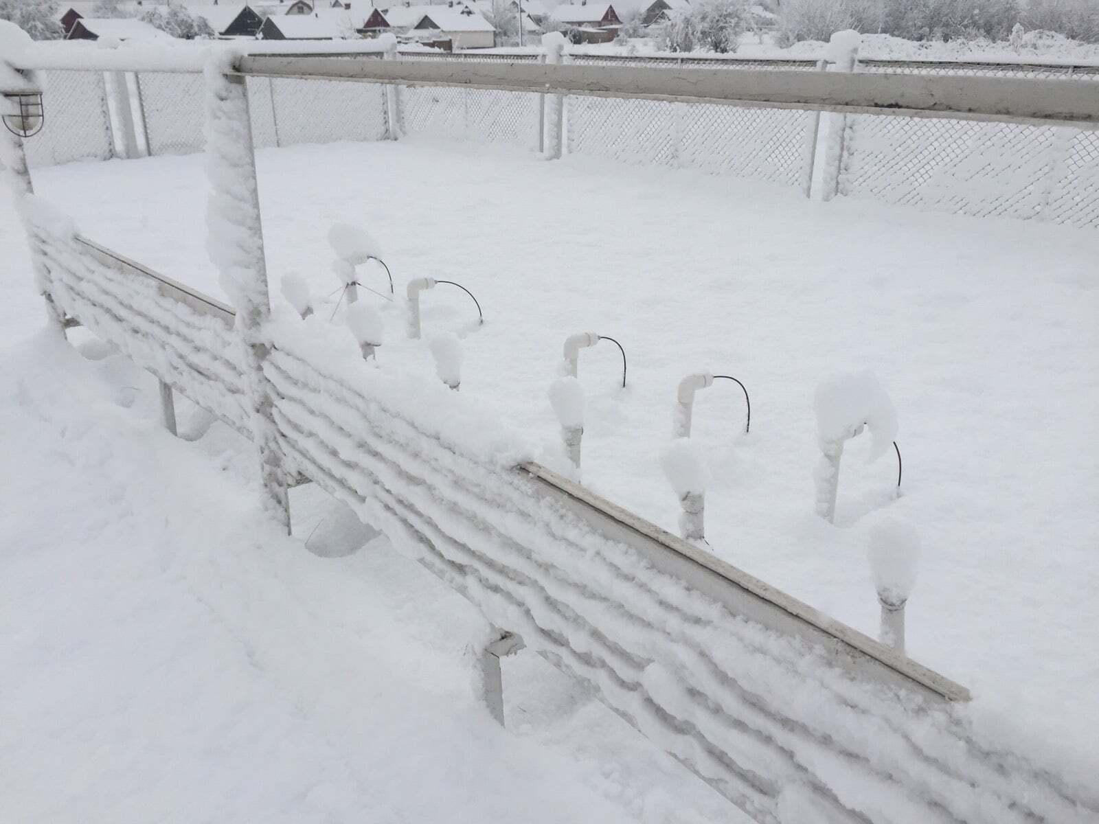 Снег в Сарнах выпал 29 ноября
