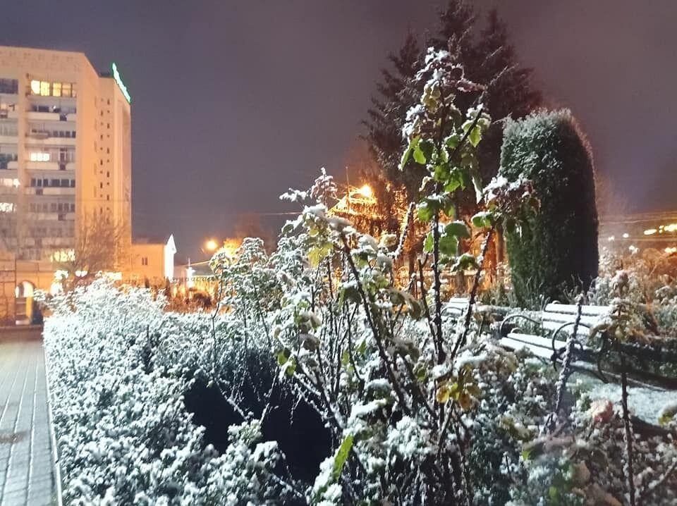 Снег в Луцке выпал 28 ноября