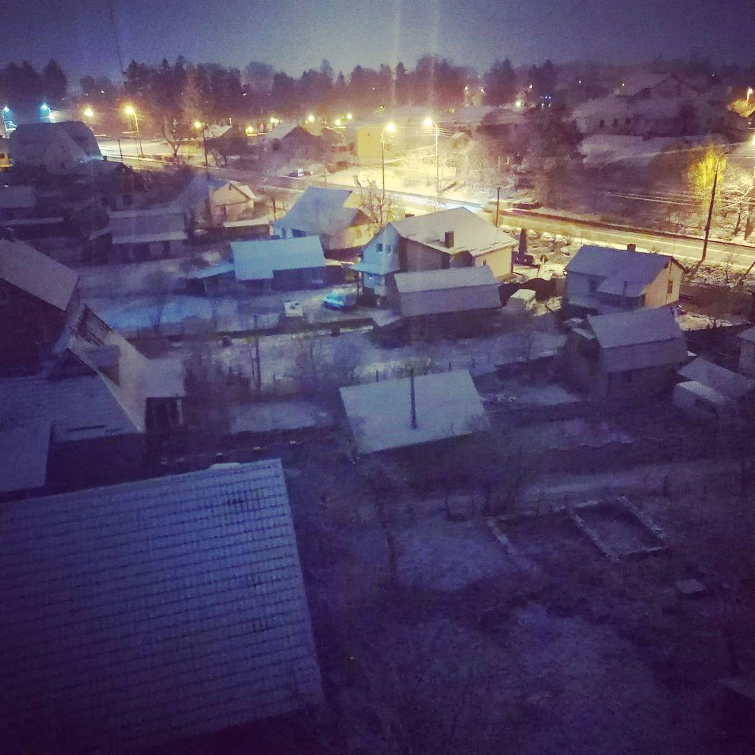Снег выпал в Ривне