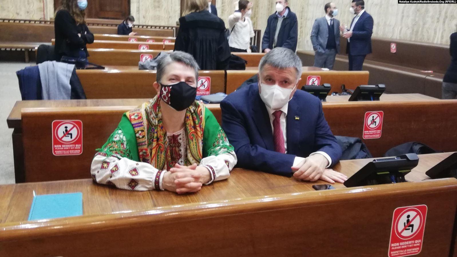 Мама Маркива и Аваков в суде