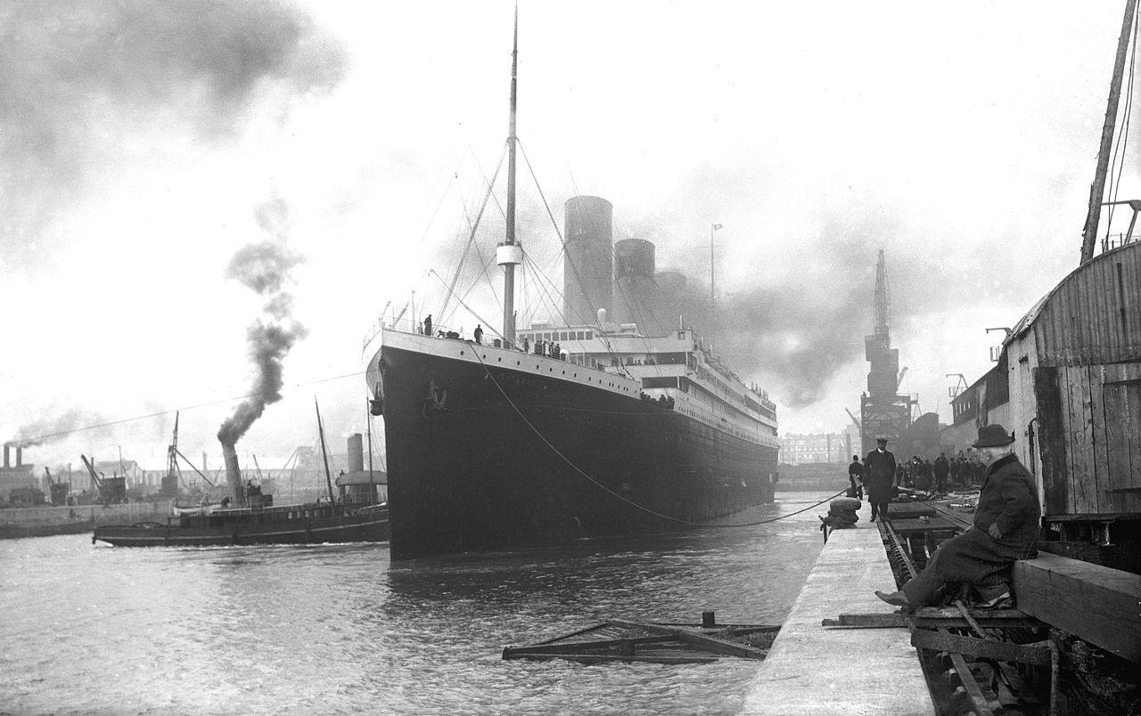 """""""Титанік"""" перед відправленням з Саутгемптона, 1912 рік"""