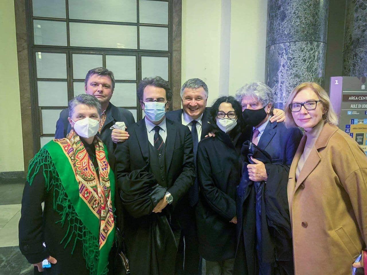 Украинская делегация на суде