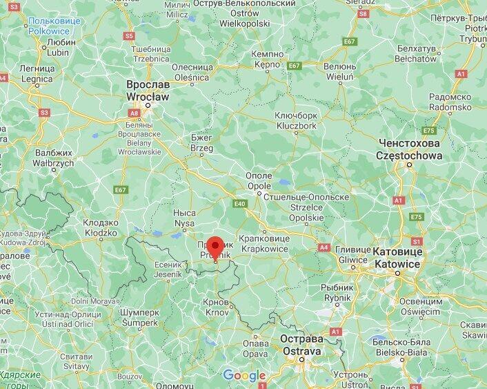 ДТП произошло возле польского города Прудник.