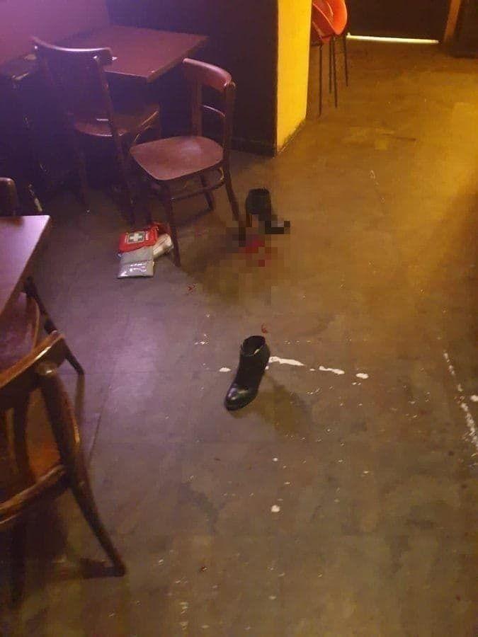 Одно из мест нападения террористов в Вене.