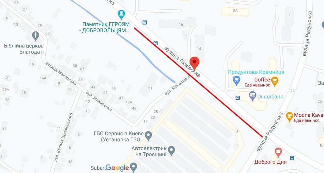 Разбойное нападение произошло на ул. Лисковской в Киеве.