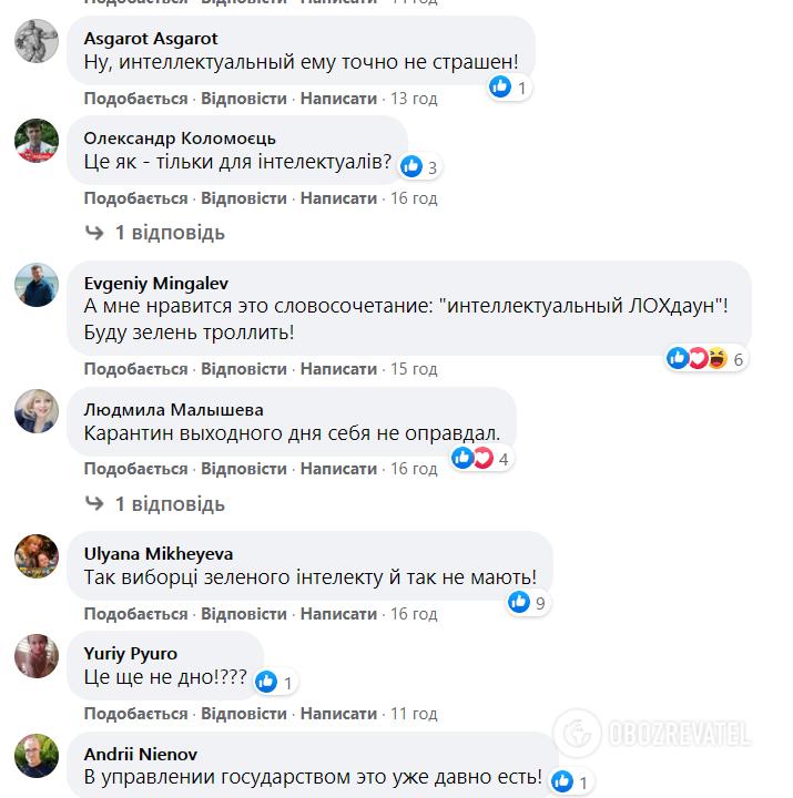 Реакция пользователей Facebook