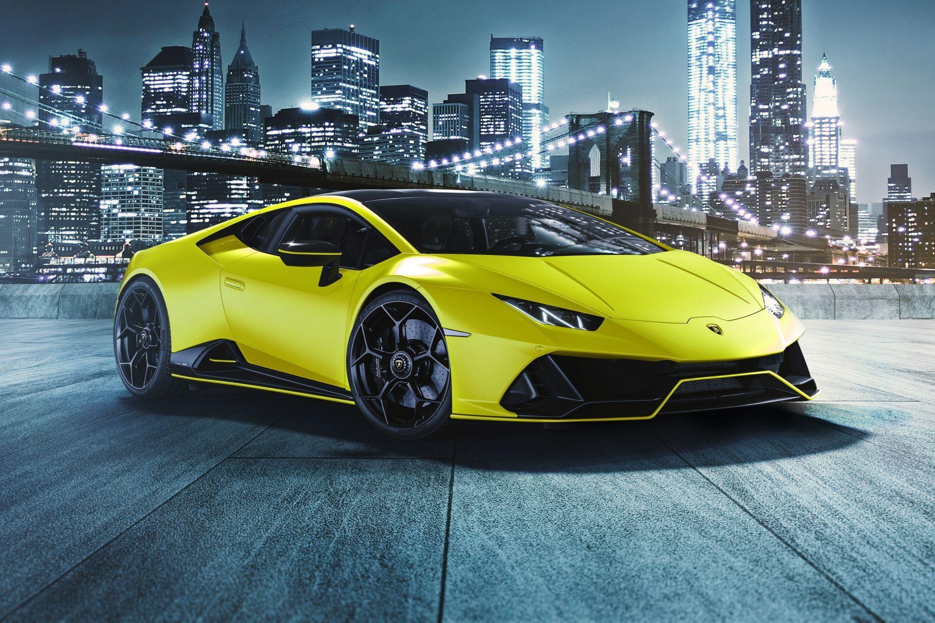 2021 Lamborghini Huracan Evo Fluo Capsule в кольорі Giallo Clarus