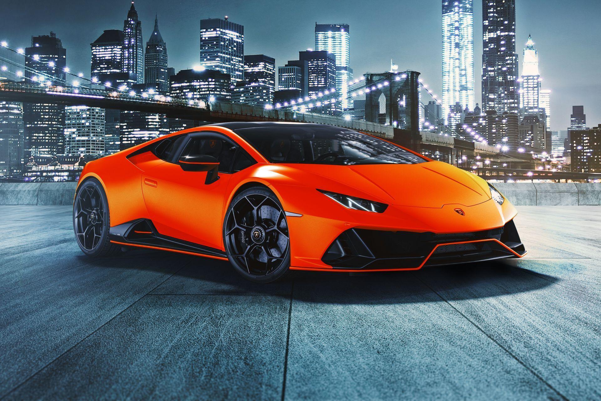 2021 Lamborghini Huracan Evo Fluo Capsule в кольорі Arancio Dac