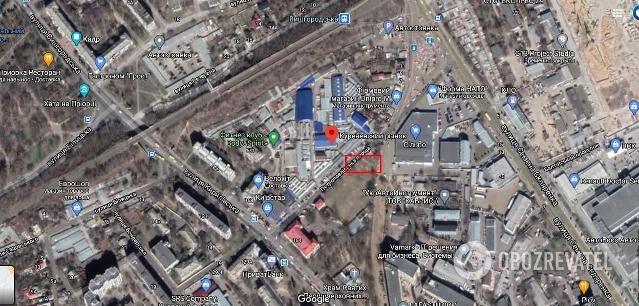 ЧП произошло возле Куреневского рынка
