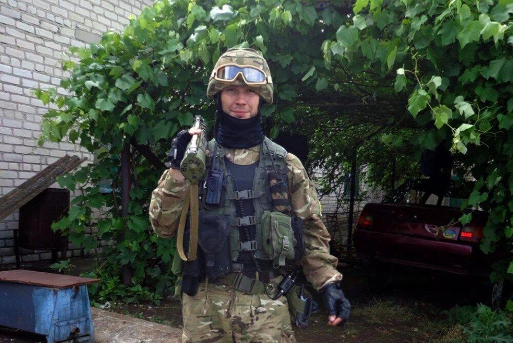 Віталій Марків на Донбасі, 2014 рік.