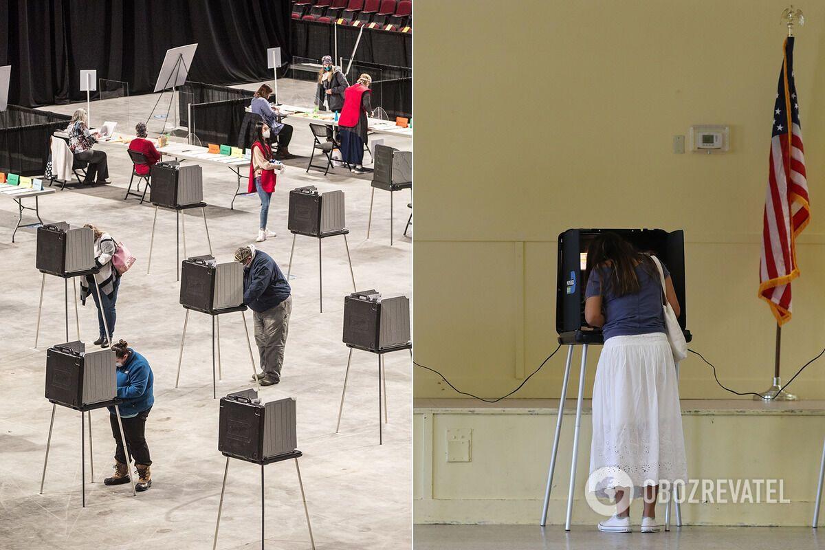 Кабинки для голосования в США