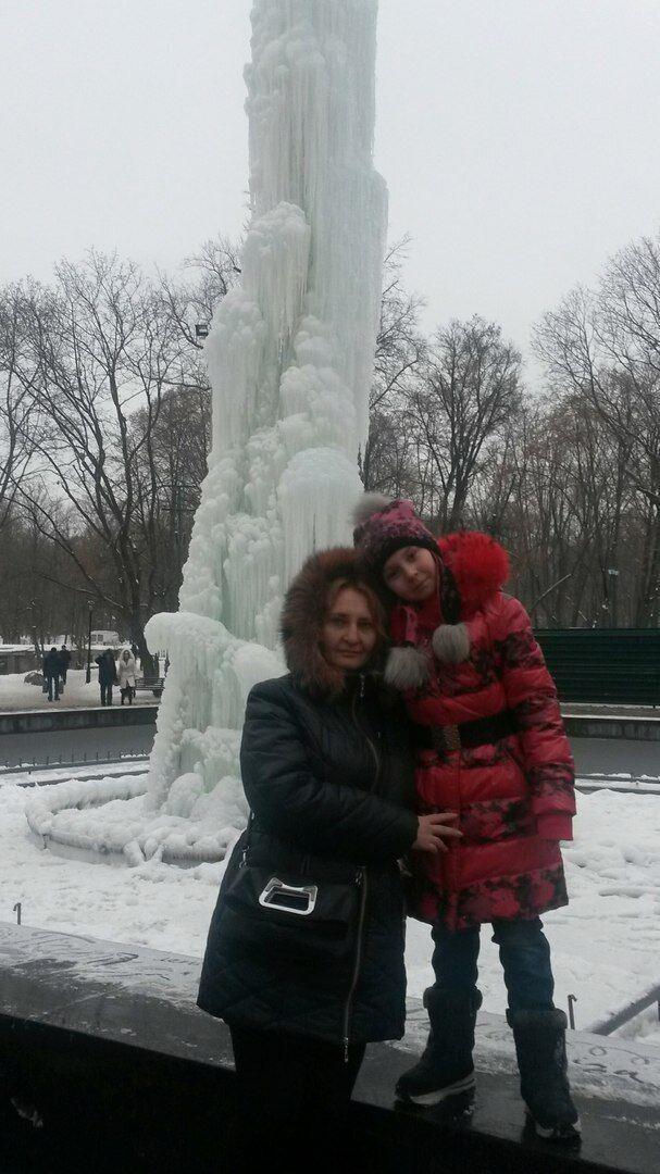 Аня з мамою Наталею.