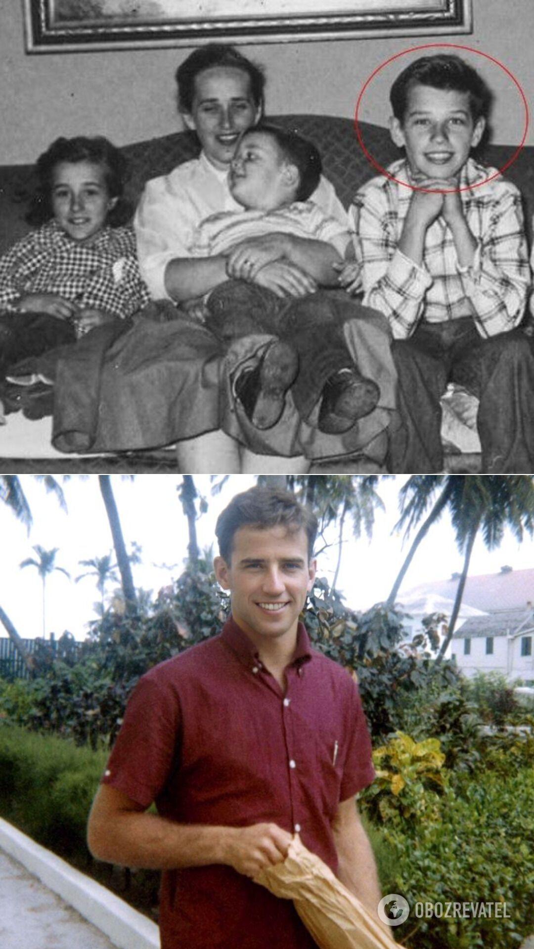 Джо Байден с мамой, братом и сестрой; 25-летний Байден ( фото 1967 года)