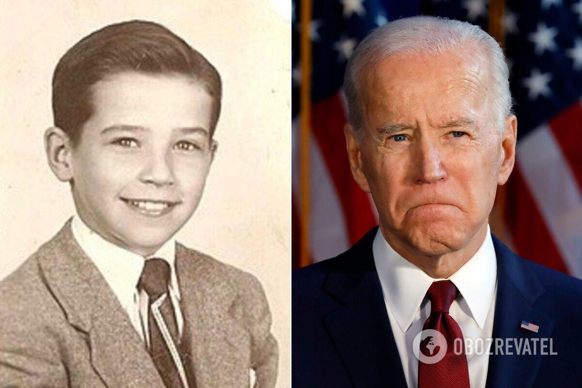 Джо Байден в детстве и сейчас