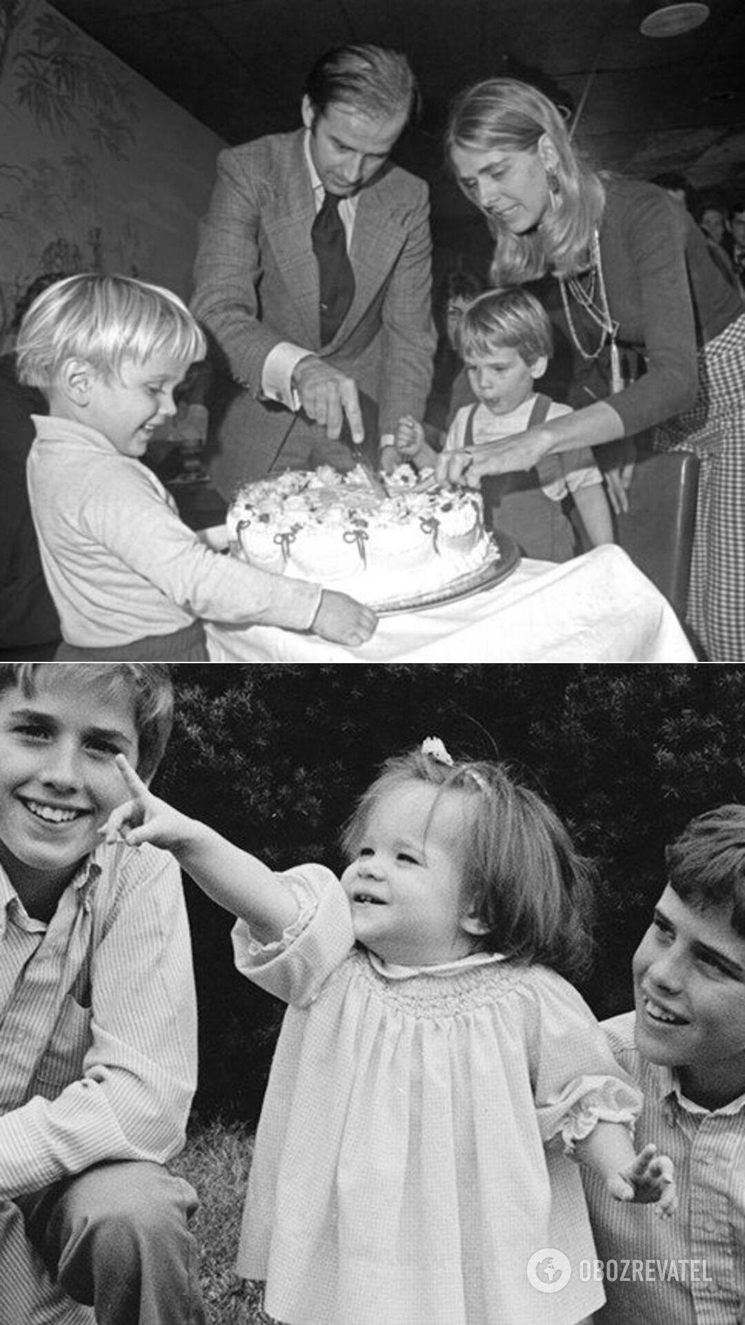 Джо Байден с первой женой и сыновьями; дети Байдена